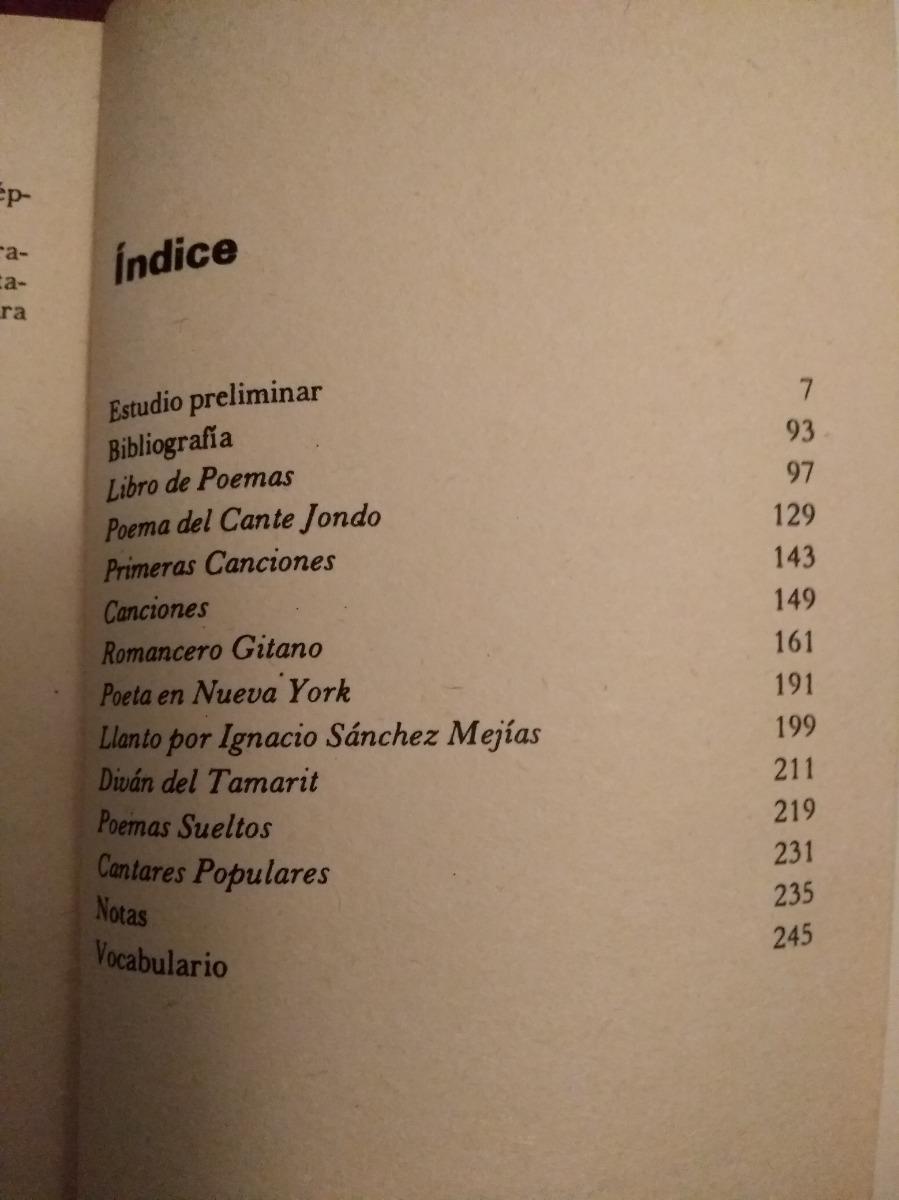 Poemas Federico Garcia Lorca