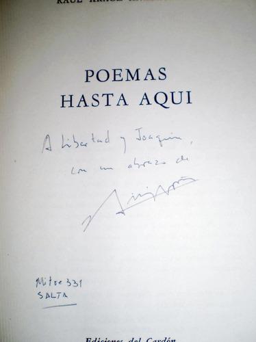 poemas hasta aquí raúl araoz anzoategui  firmado