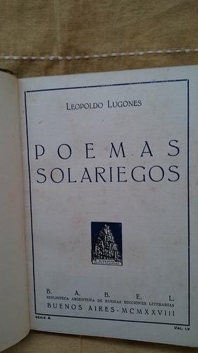 poemas solariegos - leopoldo lugones