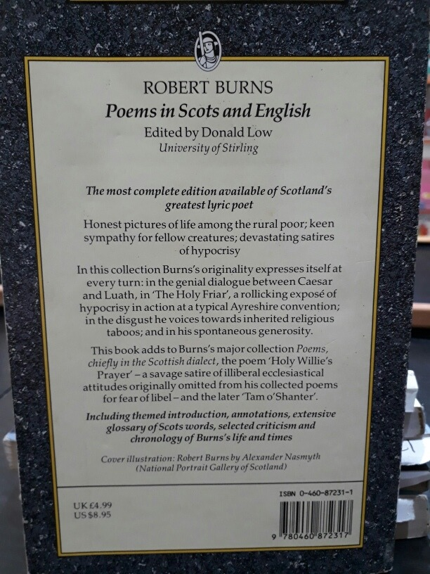 Poems In Scots And English Robert Burns Everyman 16000