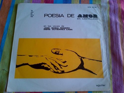 poesia de amor. poemas de neruda, dario etc. disco de vinilo