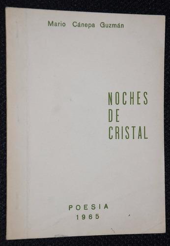 poesia  mario cánepa guzmán  noches de cristal  1965