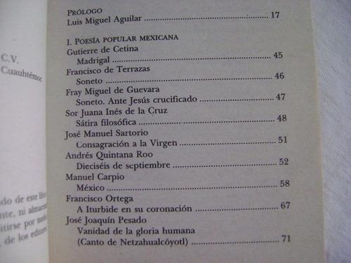 poesía popular mexicana. los imprescindibles- varios autores