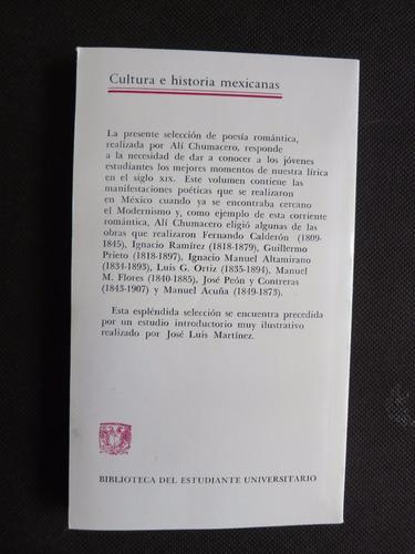 poesia romantica / ali chumacero unam