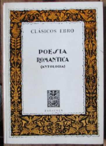 poesia romantica (antologia) - varios - ebro - 1979