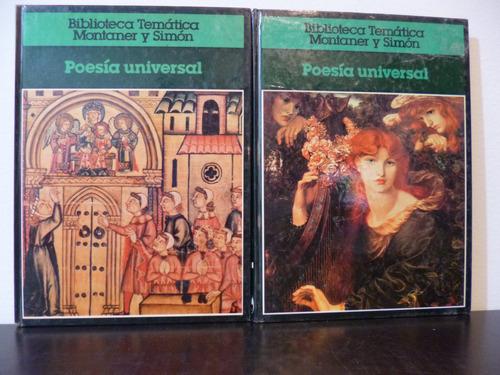 poesía universal - biblioteca temática montaner y simón