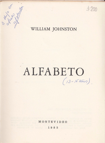 poesia uruguay william johnston alfabeto 1985 dedicado