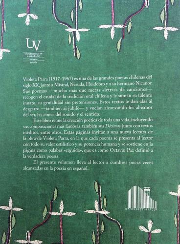 poesía  violeta parra univ. valparaíso. entrega inmediata