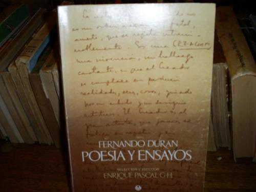 poesía y ensayos / fernando durán