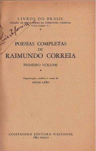 poesias completas 2 volumes raimundo correia 1948 linda obra