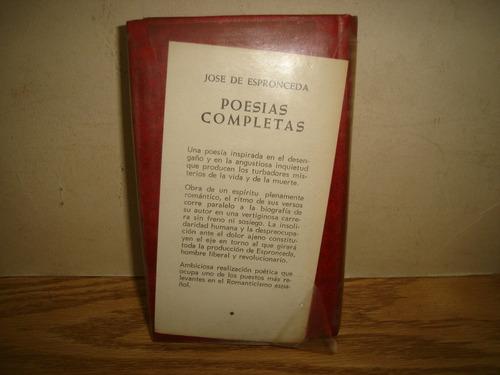 poesías completas - josé de espronceda