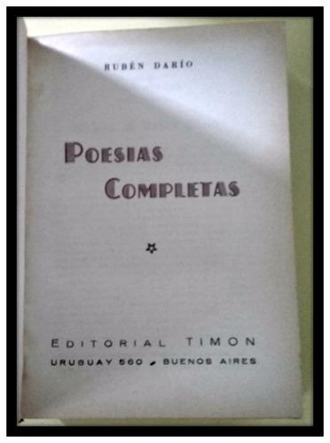 poesías completas. rubén darío