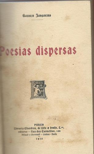 poesias diversas - guerra junqueiro - 1a. edição - 1920