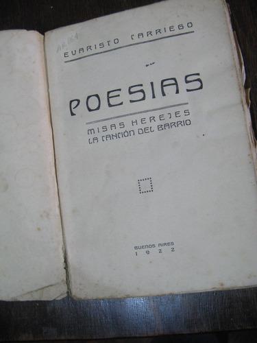 poesías. evaristo carriego
