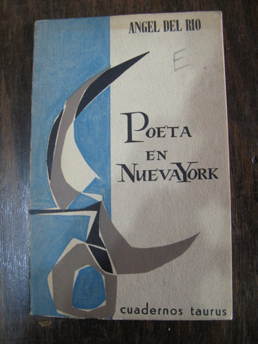 poeta en nueva york. angel del río.