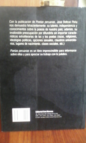 poetas peruanas - josé beltrán peña