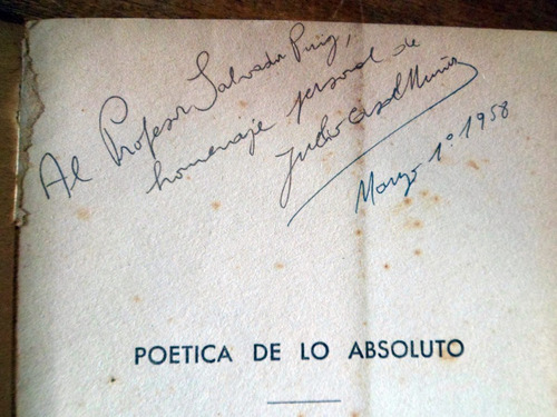 poetica de lo absoluto julio casal muñoz firmado