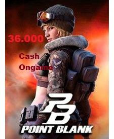 point blank - pb cartão de 36.000 cash ongame - imediato