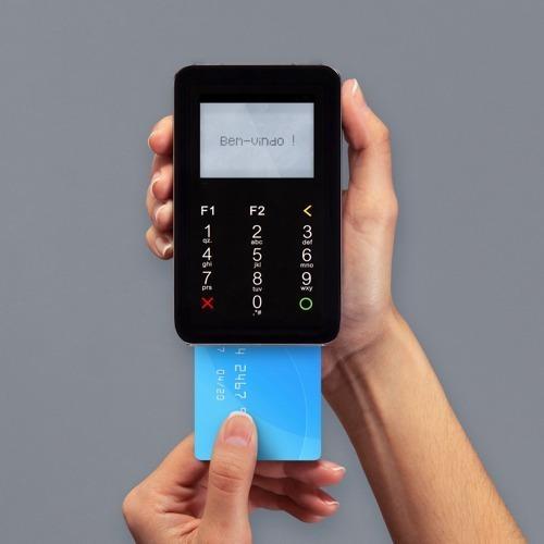 point i d200 máquina cartão mercado pago chip+ point mini -b