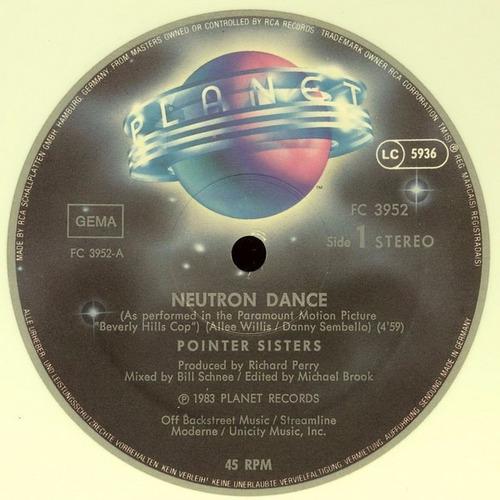 pointer sisters - neutron dance remix vinilo 12 pulgadas