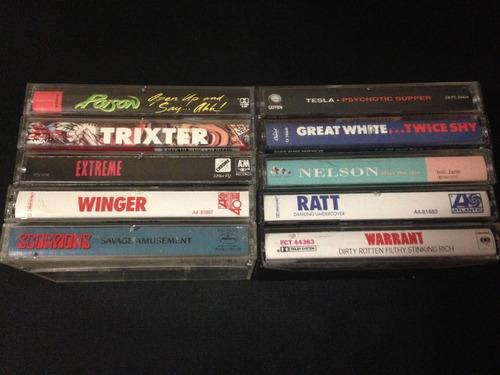 poison ratt nelson tesla extreme hard rock heavy cassettes