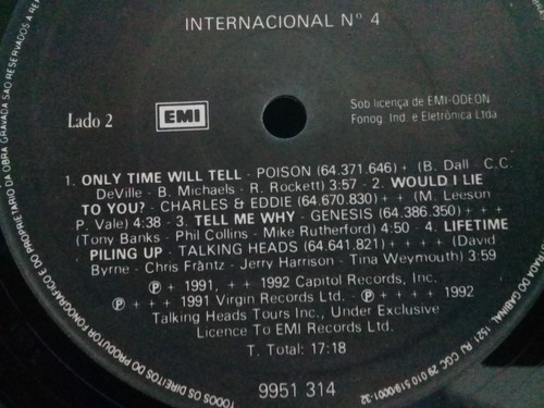 poison,talking heads,simple minds, saxon, closeau lp promo