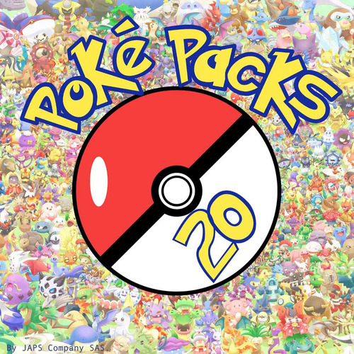 poké packs plata 3ds (20 pokémon) + regalos