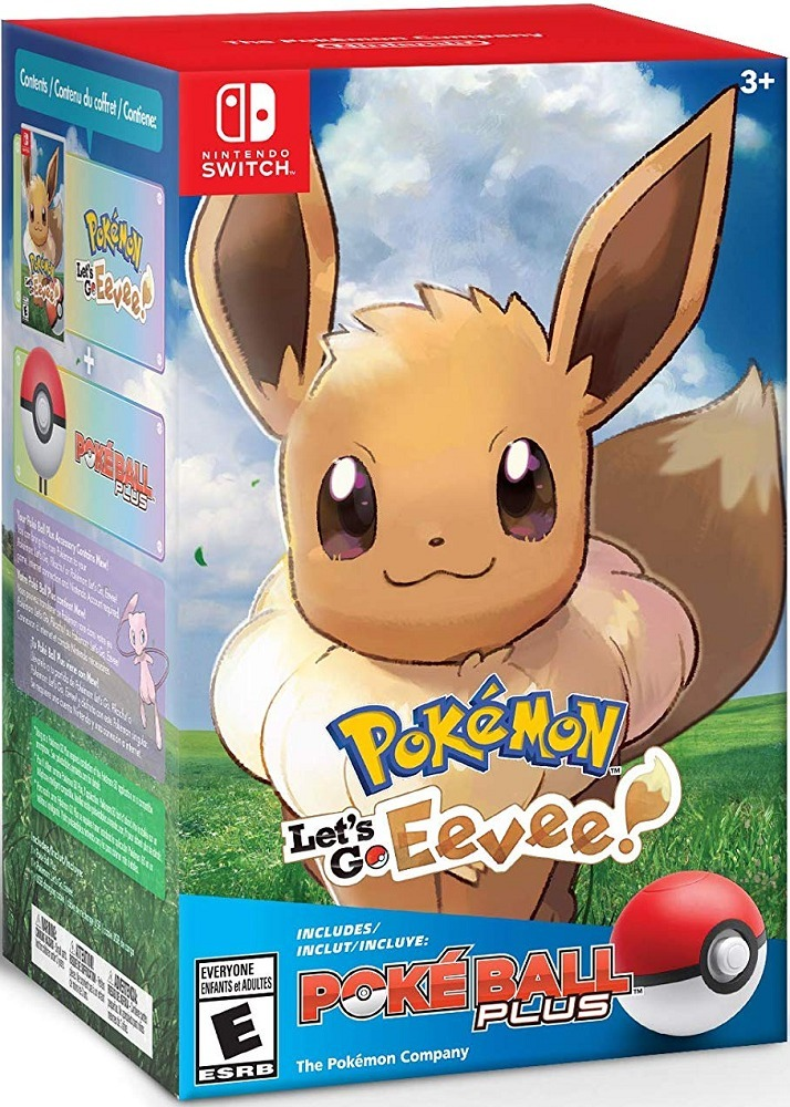 Pokeball Plus Eevee Pokemon Let S Go Switch Juego Nintendo