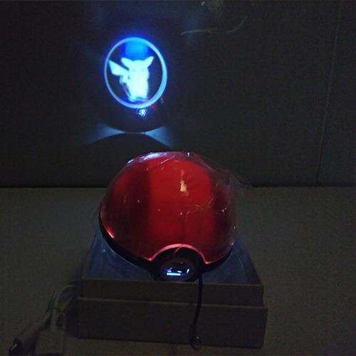 pokébola powerbank com projetor de imagem