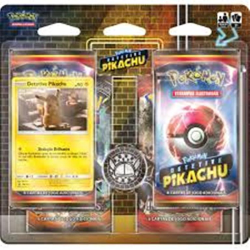 pokemon 4 pack blister/booster detetive pikachu