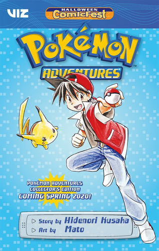 pokemon adventures   halloween comic  fest fcbd ashcan viz