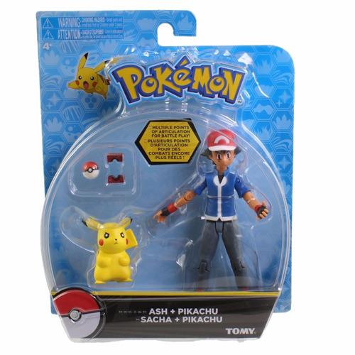 pokémon - ash + pikachu t19001 - tomy