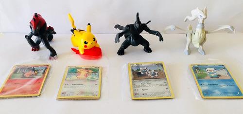 pokemon colección 4 muñecos con cartas nueva para regalar