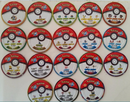 pokémon coleccionables tazos