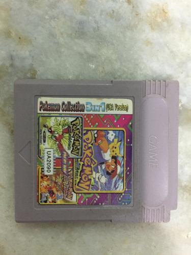 pokémon colection para game boy color com gba! 3 jogos