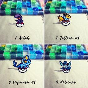 Pokemon Com Base Perler Bead Pikachu Compre 3 E Leve 4
