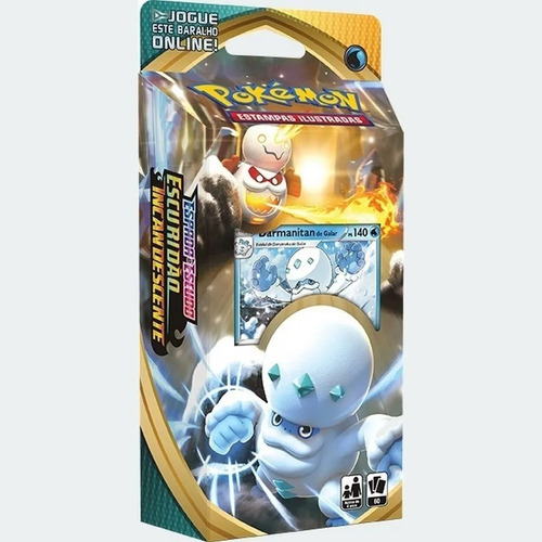 pokemon deck ee3 escuridão incandescente darmanitan de galar
