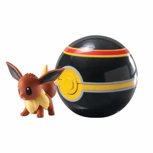 pokemon figura eevee y pokebola luxury ball tomy