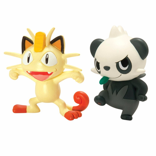 pokemon figuras pack batalla x2 meowth vs pancham tomy