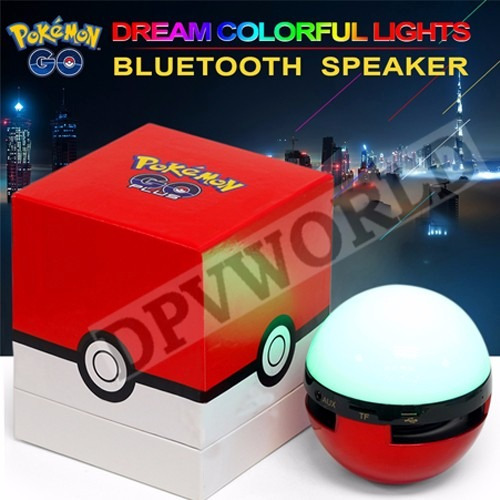 pokemon go parlante bluetooth mp3 radio sd luz led pokeball