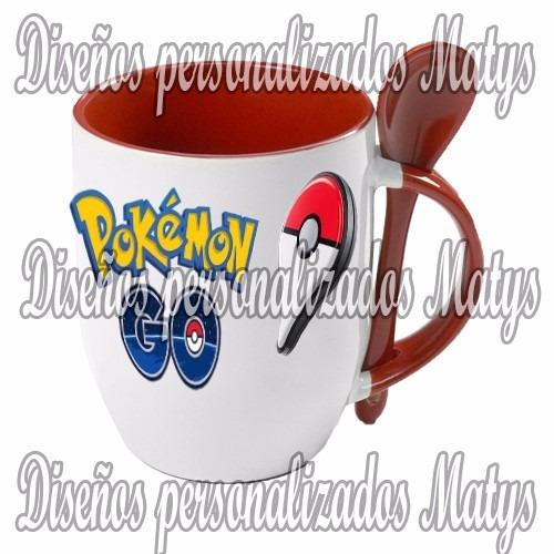 pokemon go tazas con cucharita