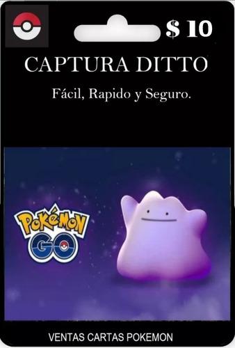 pokemon go:captura de dito para mision