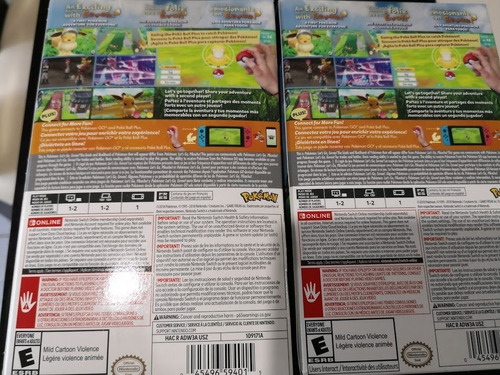 pokemon lets go eevee para switch con pokebola nuevo sellado