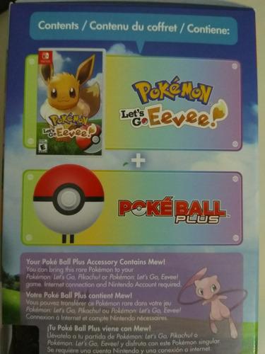 pokemon let's go evee + pokebola