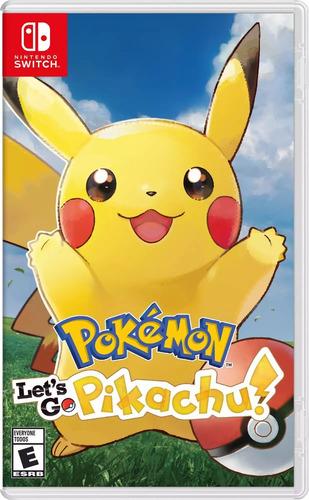 pokemon let's go pikachu nintendo switch nuevo fisico