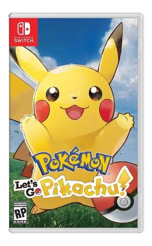 pokémon let's go, pikachu! nintendo switch nuevo y sellado