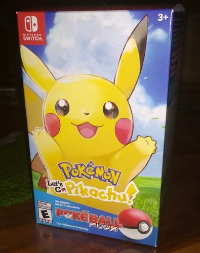 pokemon lets go pikachu + pokeball plus - pack - nuevo