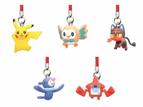 pokemon - llaveros bandai - rotomdex, pikachu, rowlet y màs