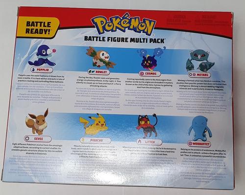 pokemon paquete de batalla de 8 figuras de acción, original