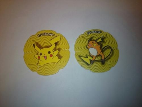 pokemon pikachu #25 #26 colección salta tazos vendo o cambio